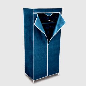 Шкаф гардероб из ткани для хранения одежды синий