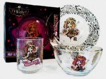 Набор посуды Monster High 3 предмета (стекло)