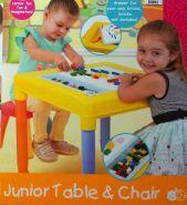 Детский игровой столик для ЛЕГО с табуретом PlayGo